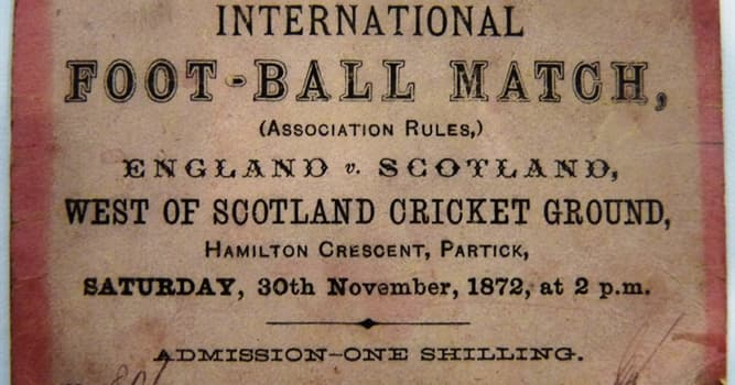 Sport Trivia Question: What was the result of the first official international football match?