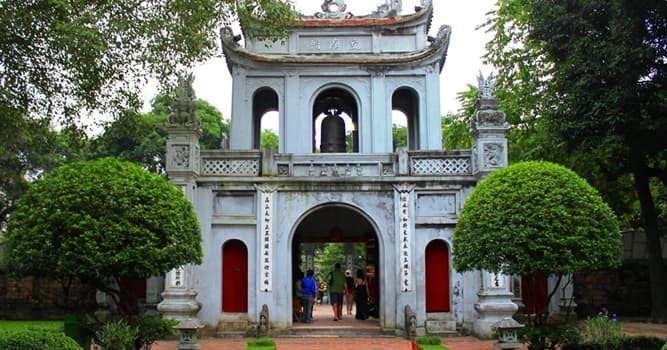 Culture Trivia Question: Where is Vietnam's first national university located?