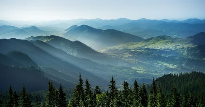 Geography Trivia Question: Which of these European mountain ranges forms an arc throughout Central and Eastern Europe?