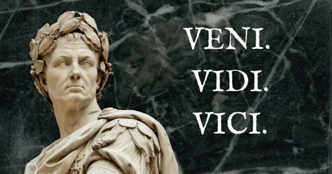 """Historia Pregunta Trivia: ¿Qué emperador romano pronunció la famosa frase: """"Vine, vi, vencí""""?"""