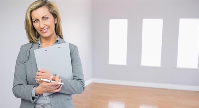 Sociedad Pregunta Trivia: ¿Un agente inmobiliario trata con qué tipo de temas?