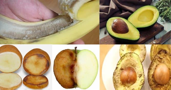 Naturaleza Pregunta Trivia: ¿Cómo se denomina el proceso por el cual frutas y verduras se ponen marrones al pelarlas o cortarlas?