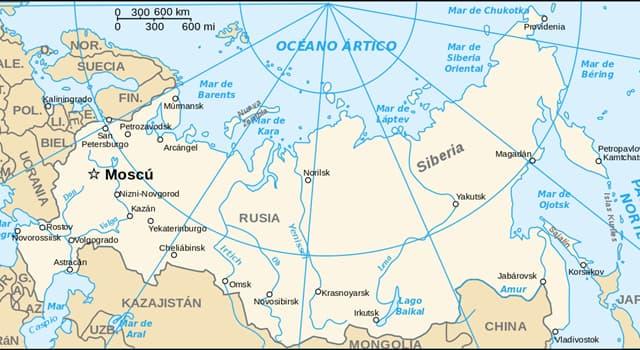 Geografía Pregunta Trivia: ¿Con cuántos países limita Rusia?