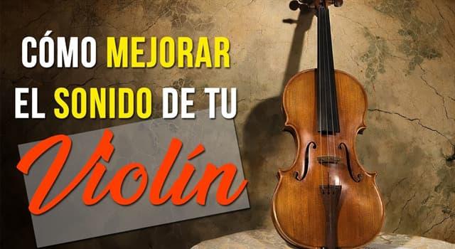 Cultura Pregunta Trivia: ¿Con qué se regula la intensidad del sonido del violín?