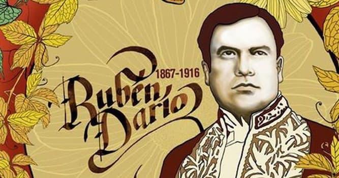 Cultura Pregunta Trivia: ¿De qué nacionalidad era el poeta y escritor Rubén Darío?