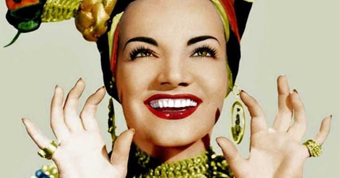 Cultura Pregunta Trivia: ¿De qué nacionalidad era la cantante Carmen Miranda?