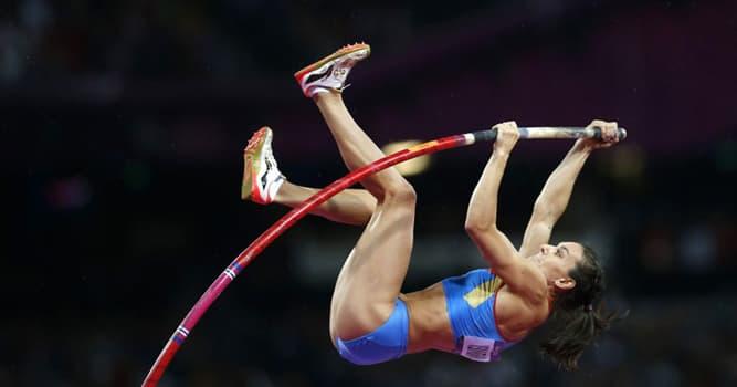 Deporte Pregunta Trivia: ¿En cuántas ocasiones batió el récord mundial de salto con pértiga femenino la atleta Yelena Isinbáyeva?