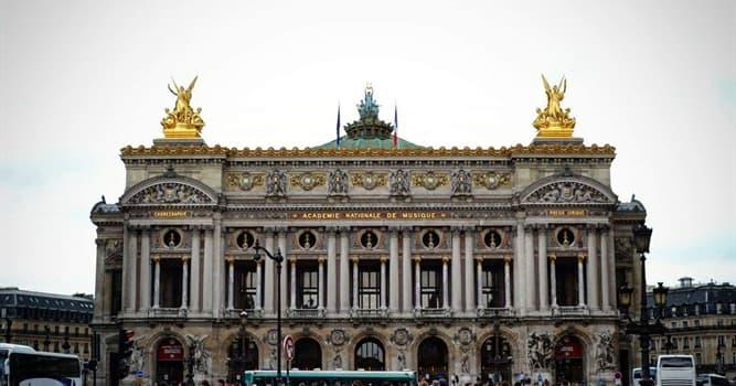 Cultura Pregunta Trivia: ¿En qué año se fundó la Ópera Garnier (Ópera de París)?