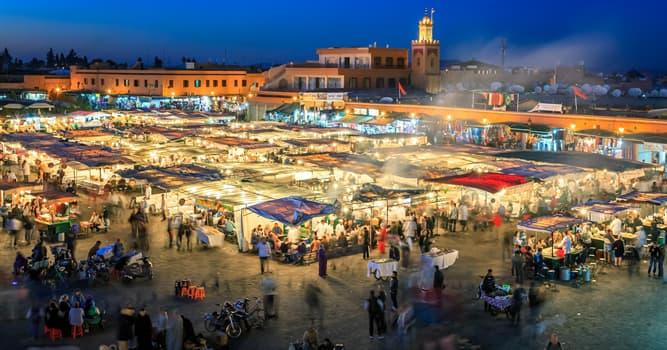 Geografía Pregunta Trivia: ¿En qué ciudad marroquí se encuentra la Plaza de Jamaa el Fna?