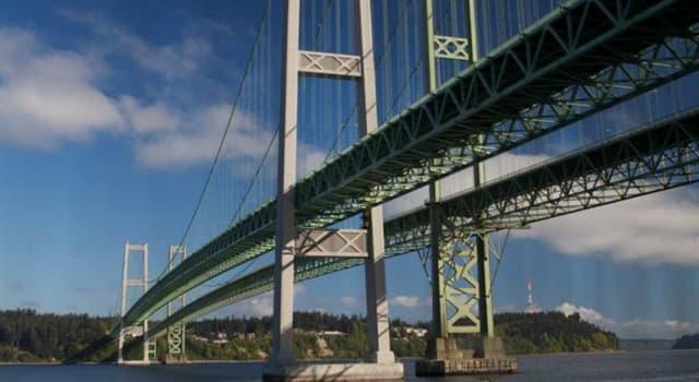 Geografía Pregunta Trivia: ¿En qué estado de los Estados Unidos está el Tacoma Narrows Bridge o puente del Estrecho de Tacoma?