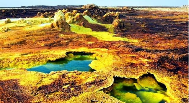"""Geografía Pregunta Trivia: ¿En qué país africano se encuentra el cráter volcánico o maar llamado """"Dallol""""?"""