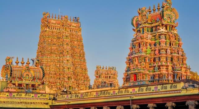 Geografía Pregunta Trivia: ¿En qué región de la India se encuentra el templo Meenakshi Amman?