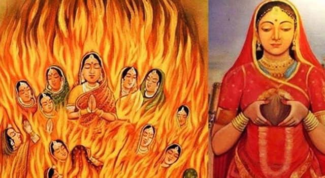 Cultura Pregunta Trivia: ¿Cómo se practicaba el sati en la India?