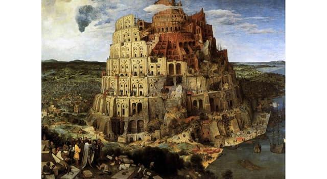 Cultura Pregunta Trivia: ¿Cómo se llama la torre cuyos constructores empezaron de repente a hablar diferentes idiomas?