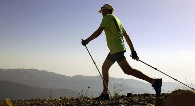 Deporte Pregunta Trivia: ¿Cuál de los siguientes datos sobre la caminata nórdica es verdadero?