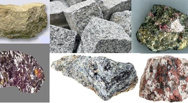 Geografía Pregunta Trivia: ¿Qué clase de minerales componen a las rocas llamadas sienitas?