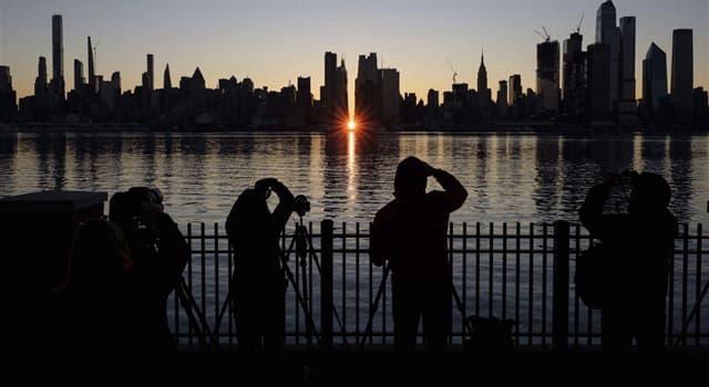 Naturaleza Pregunta Trivia: ¿Qué es el Manhattanhenge?