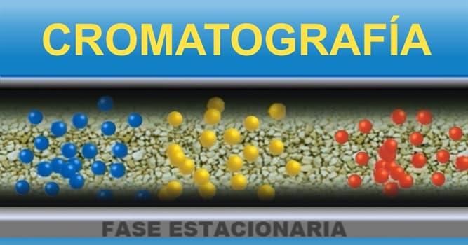 Сiencia Pregunta Trivia: ¿Qué es la cromatografía?