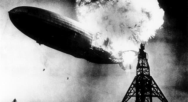 Historia Pregunta Trivia: ¿Qué fue lo que causo la tragedia del dirigible Hindengurg en 1937?