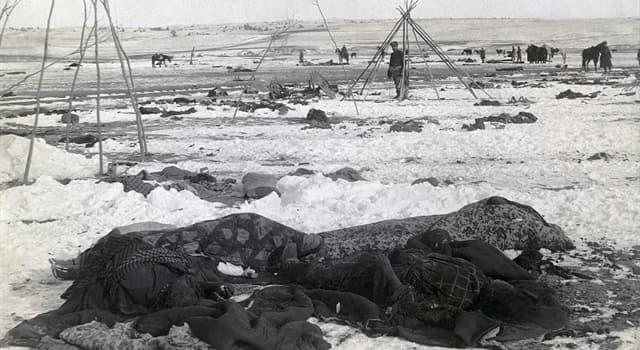 Historia Pregunta Trivia: ¿Qué ocurrió en 1890 cerca del arroyo Wounded Knee, en Estados Unidos?