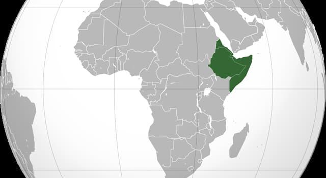 """Geografía Pregunta Trivia: ¿Qué países forman el """"Cuerno de África""""?"""