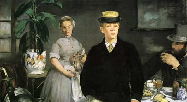 """Cultura Pregunta Trivia: ¿Qué pintor francés es el autor de """"El almuerzo"""" de 1868?"""