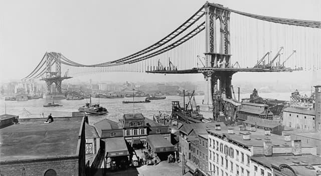 Historia Pregunta Trivia: ¿Qué puente se está construyendo en esta fotografía de 1909?
