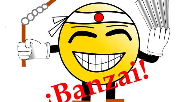 Cultura Pregunta Trivia: ¿Qué significa etimológicamente la palabra Banzai?