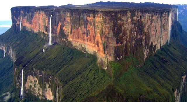 """Geografía Pregunta Trivia: ¿Qué tres países divide la cima de """"El monte Roraima""""?"""