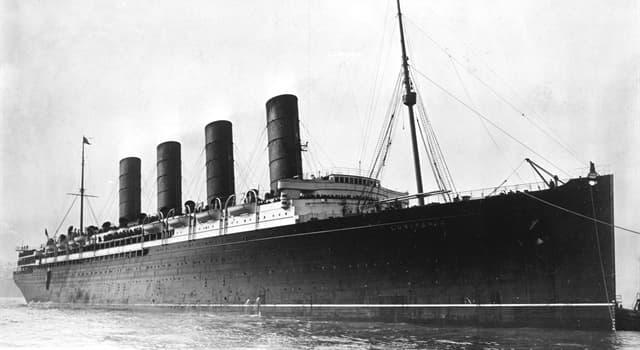 Historia Pregunta Trivia: ¿Qué hundió al trasatlántico RMS Lusitania?