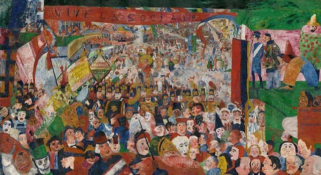 """Cultura Pregunta Trivia: ¿Quién fue el autor del cuadro """"La entrada de Cristo en Bruselas"""" que aparece en la imagen?"""