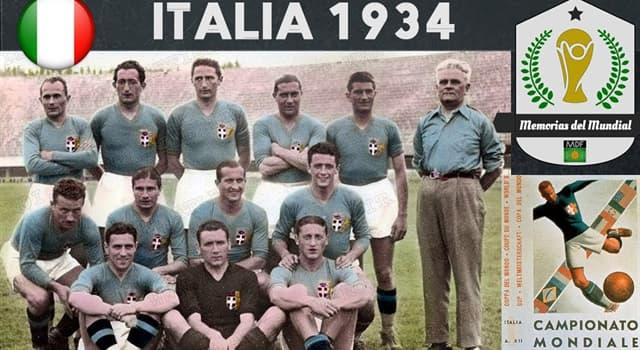 Historia Pregunta Trivia: ¿Quién gobernaba Italia cuando se realizó allí el segundo campeonato mundial de fútbol en 1934?