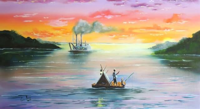 """Cultura Pregunta Trivia: ¿A orillas de qué río se desarrolla la novela """"Las aventuras de Huckleberry Finn?"""