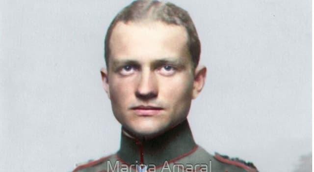 """Historia Pregunta Trivia: ¿Cómo se llamaba el """"Barón Rojo"""", héroe alemán de la Primera Guerra Mundial?"""