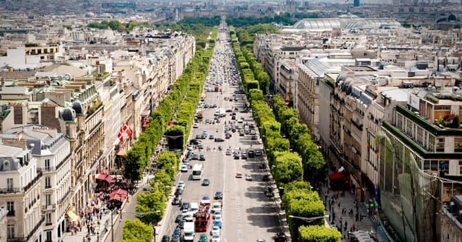 Geografía Pregunta Trivia: ¿Cuál es la arteria principal de París?