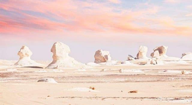 Naturaleza Pregunta Trivia: ¿Cuál es la característica del desierto de Farafra?