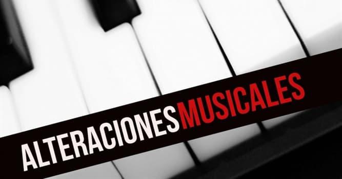 Cultura Pregunta Trivia: ¿Cuántos tipos de alteraciones musicales son utilizadas?