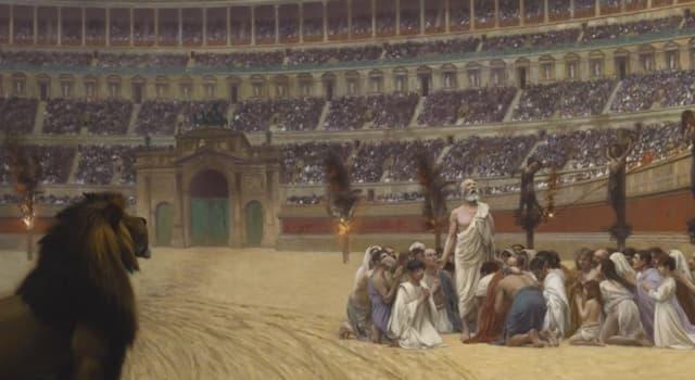 """Historia Pregunta Trivia: ¿En qué consistía la """"damnatio ad bestias"""", una pena de muerte llevada a cabo en la Antigua Roma?"""