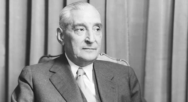 Historia Pregunta Trivia: ¿De qué país fue dictador António de Oliveira Salazar?