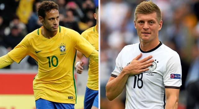 Deporte Pregunta Trivia: ¿En cuántas ocasiones se enfrentaron Brasil y Alemania en los Mundiales de fútbol masculino?