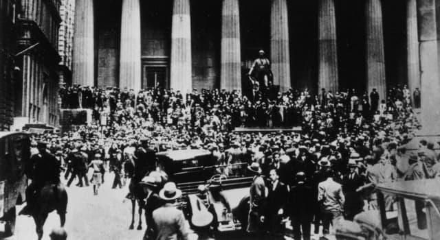 Historia Pregunta Trivia: ¿En qué año fue la gran depresión en Estados Unidos de América?