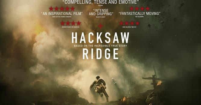 """Películas Pregunta Trivia: ¿En qué año se estrenó la película """"Hasta el último hombre"""" (Hacksaw Ridge)?"""