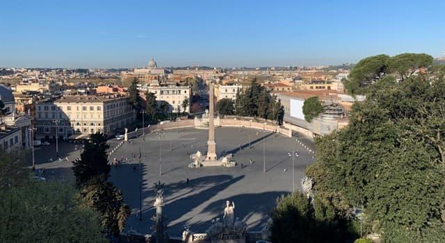 Geografía Pregunta Trivia: ¿En qué ciudad de Italia se encuentra la Piazza del Popolo?