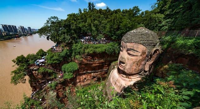 Geografía Pregunta Trivia: ¿En qué monte fue esculpido el Buda Gigante de Leshan?