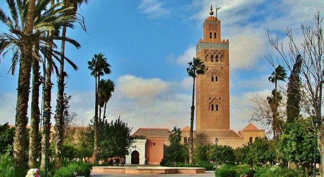 Geografía Pregunta Trivia: ¿En qué país está ubicada la Mezquita Kutubía o Koutoubia?