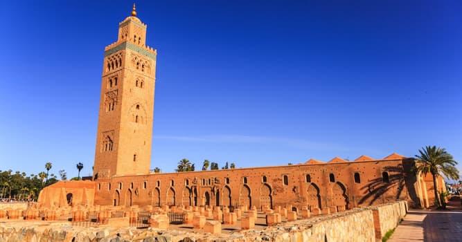 Geografía Pregunta Trivia: ¿En qué siglo fue construida la Mezquita de Kutubía o Koutoubia en Marrakech?