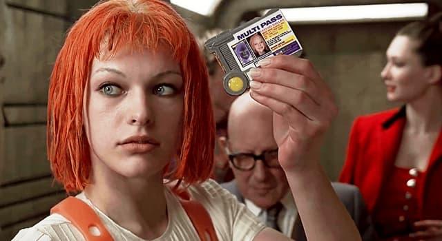 """Películas Pregunta Trivia: ¿Qué """"elemento"""" era Leelo, la mujer interpretada por Mila Jovovich, en la película de 1997?"""