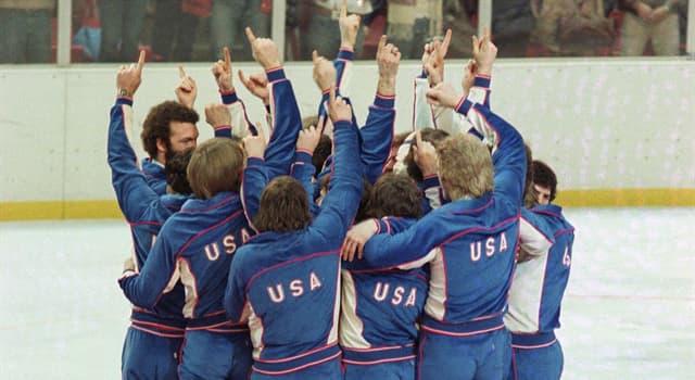 """Deporte Pregunta Trivia: ¿De qué deporte fue la final conocida como """"milagro sobre hielo"""" de los Juegos Olímpicos de Invierno de 1980?"""