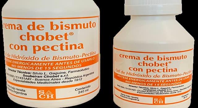 """Cultura Pregunta Trivia: ¿Para el tratamiento de qué malestar temporal se utiliza el """"Subsalicilato de bismuto"""" (crema de bismuto)?"""