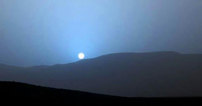 Naturaleza Pregunta Trivia: ¿Por qué las puestas de sol en Marte son azules?